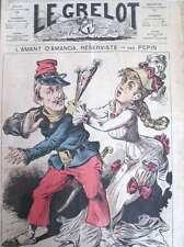 CARICATURE L'AMANT D'AMANDA AUX AMBASSADEURS SATIRIQUE LE GRELOT 1876 N° 282