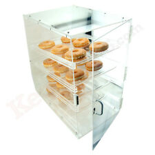Acrylic Donut & Pastry Display Case - 4 Shelves - Front & Back Access Doors