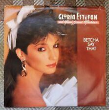 """""""Gloria Estefan & the Miami Sound Machine""""   - 1987 Picture Sleeve & 45 record"""