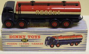 DINKY 942 FODEN REGENT TANKER, MINT MODEL W/ NEAR-MINT BOX!