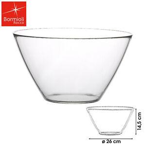 GROSSE BORMIOLI SALATSCHÜSSEL 26cm GLAS-SCHALE DESSERT MÜSLI PUDDING TRANSPARENT