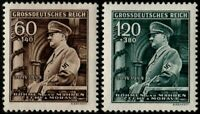 ✔️  GERMANY BOHEMIA MORAVIA 1944 WWII NAZI HITLER SC. B25/B26 ** MNH OG [GBM136]