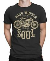 Four Wheel Move the Body Two wheels Move Soul  Mens T-Shirt