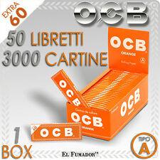 3000 CARTINE OCB ORANGE CORTE ARANCIONI - 50 Libretti da 60 Fogli - ARANCIO