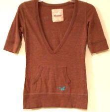 HOLLISTER - CALIFORNIA WEST COAST LONGBOARDS - Brown Casual Shirt - Junior's: S