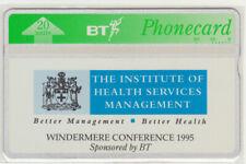 BT Internal 121 Health Service Conference Windermere 1995 Mint phonecard Cat £35
