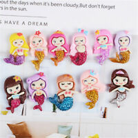 2-3cm Glitter Resin Mermaid Flat Back Craft Phone Case Decors Mixed 20 Pack