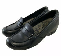 Merrell Plaza Glide Black Leather Slip On Loafers Women's Shoes Size Us 8.5 M
