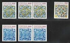 Portugal Stamps   1980s   Portuguese Azulejo (Tiles) 7 stamps   MNH