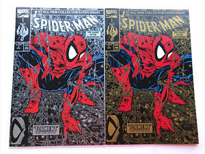 Spider-Man 1 Silver & Gold, Marvel 1990, Todd McFarlane Set