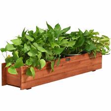 36 Inch Wooden Flower Planter Box Garden Yard Decorative Window Box Rectangular