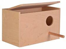 Budgie Nest Box Nesting Box Trixie 21cm x12cm x 13cm Flip Top Lid (5630)