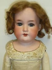 "20.5"" AM 370 Antique German Doll on Kid Body w/Blue Sleep Eyes"