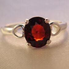 2.20ct Natural  Rare Red Spessartite Garnet Ring
