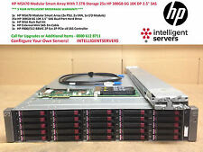 "HP MSA70 Modular Smart Array With 7.5TB Storage 25x HP 300GB 6G 10K DP 2.5"" SAS"