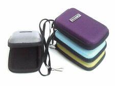 Silver Compact Universal Nylon Hard Shell Case Zip Bag for Small Digital Camera