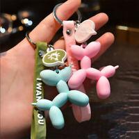 Lovely Balloon Dog Keychains  Fashion Women Girls Bag Charm Key Chains Acces