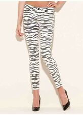 Guess Brittney Ankle Skinny Zebra Print Mid Rise Jeans Size 31