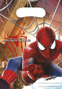 The Amazing Spider-Man Birthday Party Bags, Loot Bag, Sweet Bag, Gift Bag