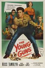 THE YOUNG GUNS Movie POSTER 27x40 Russ Tamblyn Gloria Talbott Perry Lopez Scott