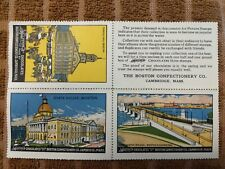 Great Sparrow's Chocolate, Boston Confectionary Co. Uncut Set of 4 Poster Stamps