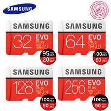 Samsung 32GB 64GB 128GB 256GB MicroSD SDHC Memory Card EVO Plus 100MB/s F. Video