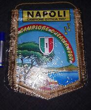Gagliardetto Napoli Calcio 1986/1987 no Maglia Shirt Vintage