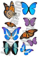 SET 9 ADESIVI FINESTRA FARFALLE WINDOWS STICKERS VETRI BUTTERFLYS 2 FARFALLA
