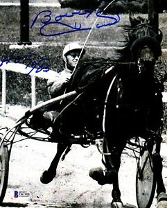"BECKETT-BAS BOBBY HULL ""HOF 1983"" AUTOGRAPHED-SIGNED 8x10 HARNESS DRIVER PHOTO 8"