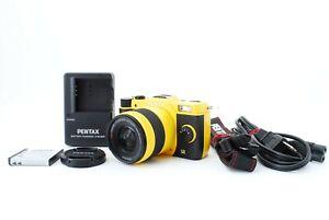 """Only 582shots"" PENTAX Q7 Digital Camera - yellow body w/5-15mm Lens Kit Japan"