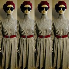 Vintage 1980s Black/White Striped Day Dress. Size 12