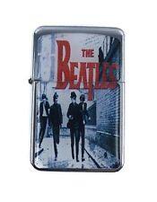 Lighter The Beatles Silver Refillable Windproof Oil Petrol Star Flip Top