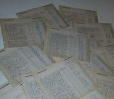 vintage paper ephemera lot 25 pieces Lg bank ledger pages 1950's handwritten