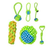 Funny Rope Knot Ball Chew Bite Resistant Teeth Cleaning Toy for Pet Dog Cat A#S