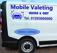 Mobile Valeting Van Stickers Design Ready Waterproof Vinyl Graphic 7 Years Life