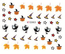 Nail Art Stickers 3D Transfers Decals Halloween Pumpkin Wizards (E063)