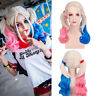 Women Wavy Wig Suicide Squad Harley Quinn Hair Halloween Cosplay Party Costume