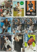 (9) card Buster Posey mixed lot, San Francisco Giants star