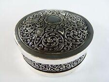 Indian SILVER - Poss. Kashmiri Lidded Box w/ floral design