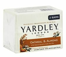 Yardley London Moisturizing Bars Oatmeal - Almond With Natural Oats 8.50 oz