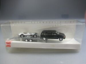 Busch Vedes Model: Chrysler Voyager With MB W196 Race Car, Limited (GK113)
