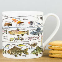New Picturemaps Fishing Fine Bone China Sports Personalised Gift Mug Fish Types