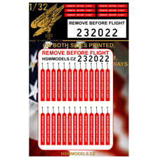HGW 1/32 US Remove Before Flight Seat Belts (both sides printed)
