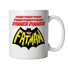 Dinner Dinner Fatman, Funny Mug - Superhero Gift Dad Him Father Day Secret Santa
