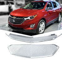 Fits 2016 2017 Chevy Equinox Front Grille Covers Tape-On Overlay Mesh Chrome