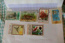 6 Trinidad  postage stamps postal philately philatelic kiloware mail