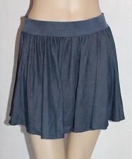 FORCAST Brand Navy Blue Denim Full Swirl Skirt Size 8 BNWT #sd53