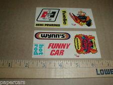 2 Fleer Stickshifts 1971 vtg Drag racing stickers Hurst Hemi Plymouth Cuda Mopar
