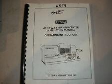 Toyoda CNC Lathe GT32/52/62 Operating Instruction Manual