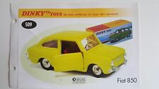 Dinky Toys Atlas - Fascicule SEUL de la Fiat 850 (Booklet only)
